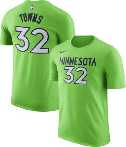 Nike Men s Minnesota Timberwolves Karl-Anthony Towns  32 Dri-FIT Green T- Shirt. noImageFound 2912bd8b9