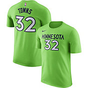 Nike Men's Minnesota Timberwolves Karl-Anthony Towns #32 Dri-FIT Green T-Shirt