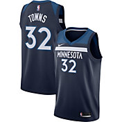 Nike Men's Minnesota Timberwolves Karl-Anthony Towns #32 Navy Dri-FIT Swingman Jersey