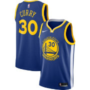 92faa607 Nike Men's Golden State Warriors Stephen Curry #30 Royal Dri-FIT Swingman  Jersey