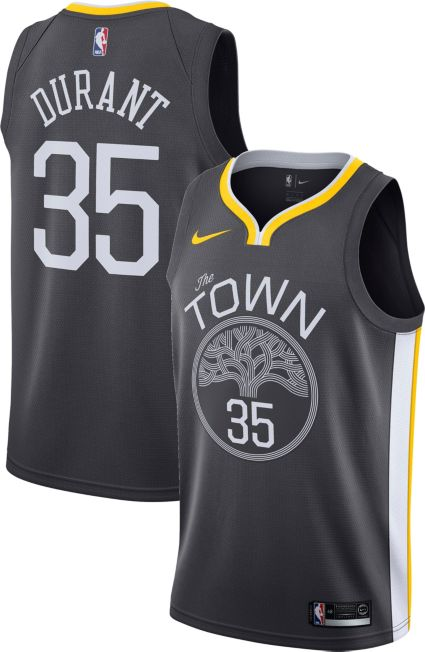 Nike Men s Golden State Warriors Kevin Durant  35 Grey Statement Dri-FIT Swingman  Jersey. noImageFound f0a43b4ef