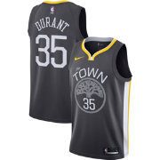 Nike Men's Golden State Warriors Kevin Durant #35 Grey Statement Dri-FIT Swingman Jersey