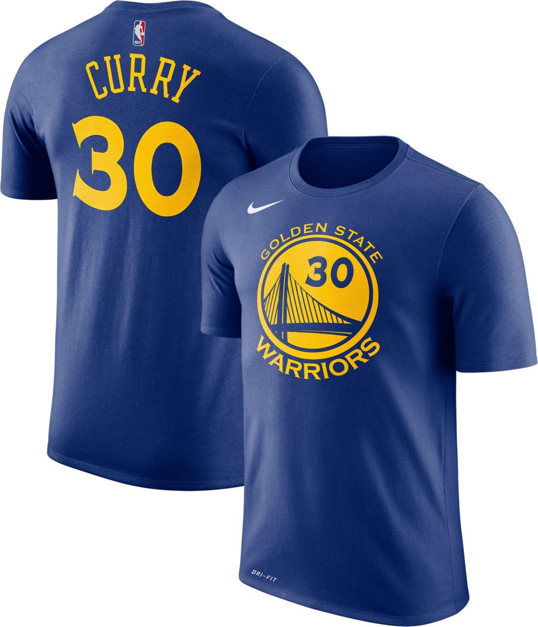 8a814188c3d Nike Men's Golden State Warriors Stephen Curry #30 Dri-FIT Royal T-Shirt