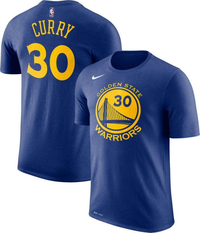 70fec6caccd Nike Men's Golden State Warriors Stephen Curry #30 Dri-FIT Royal T-Shirt