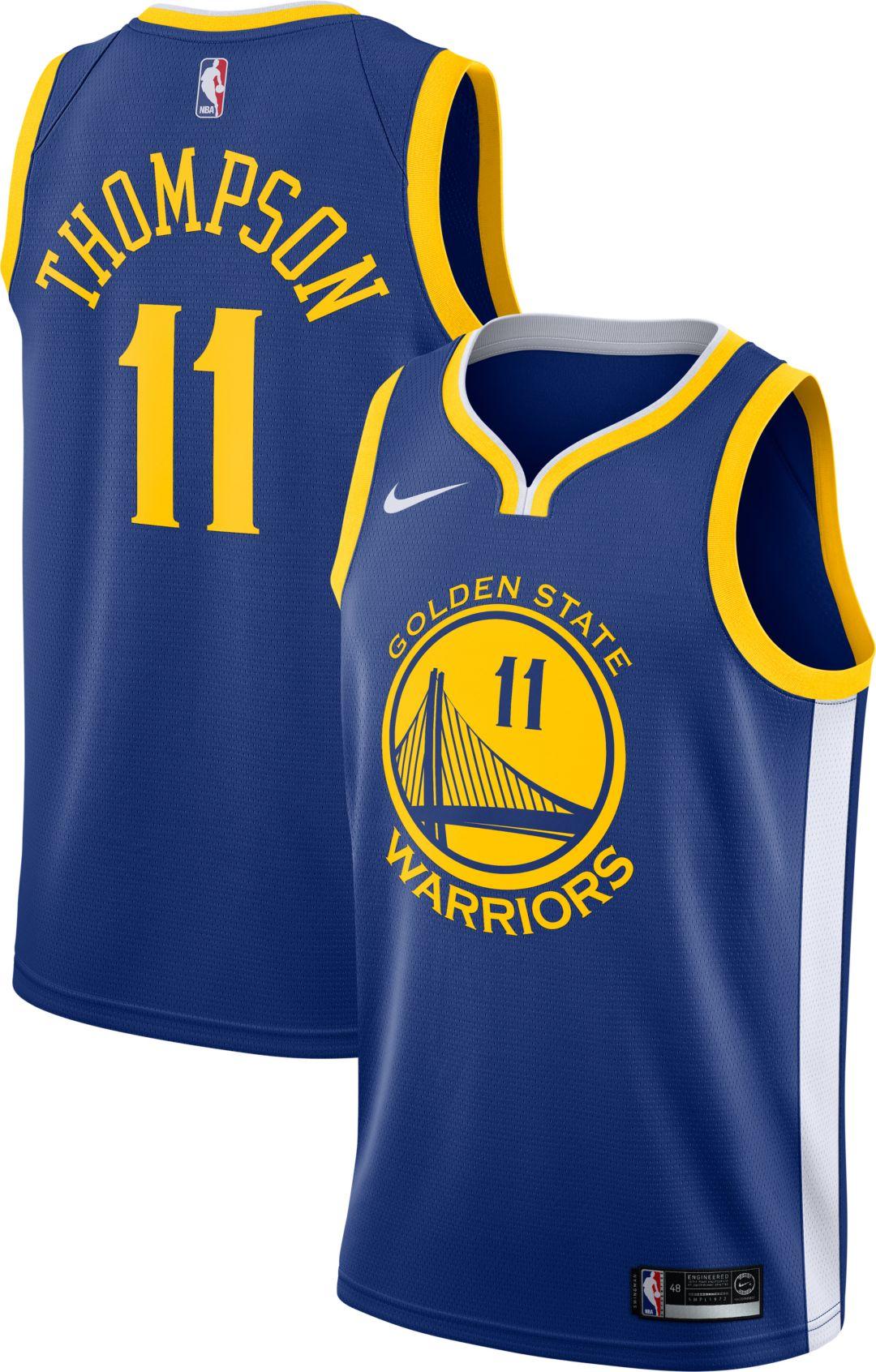 best cheap 63ed2 fe98c Nike Men's Golden State Warriors Klay Thompson #11 Royal Dri-FIT Swingman  Jersey