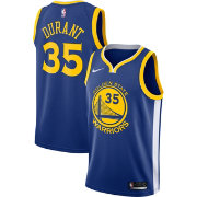Nike Men's Golden State Warriors Kevin Durant #35 Royal Dri-FIT Swingman Jersey