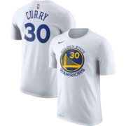 Nike Men's Golden State Warriors Stephen Curry #30 Dri-FIT White T-Shirt