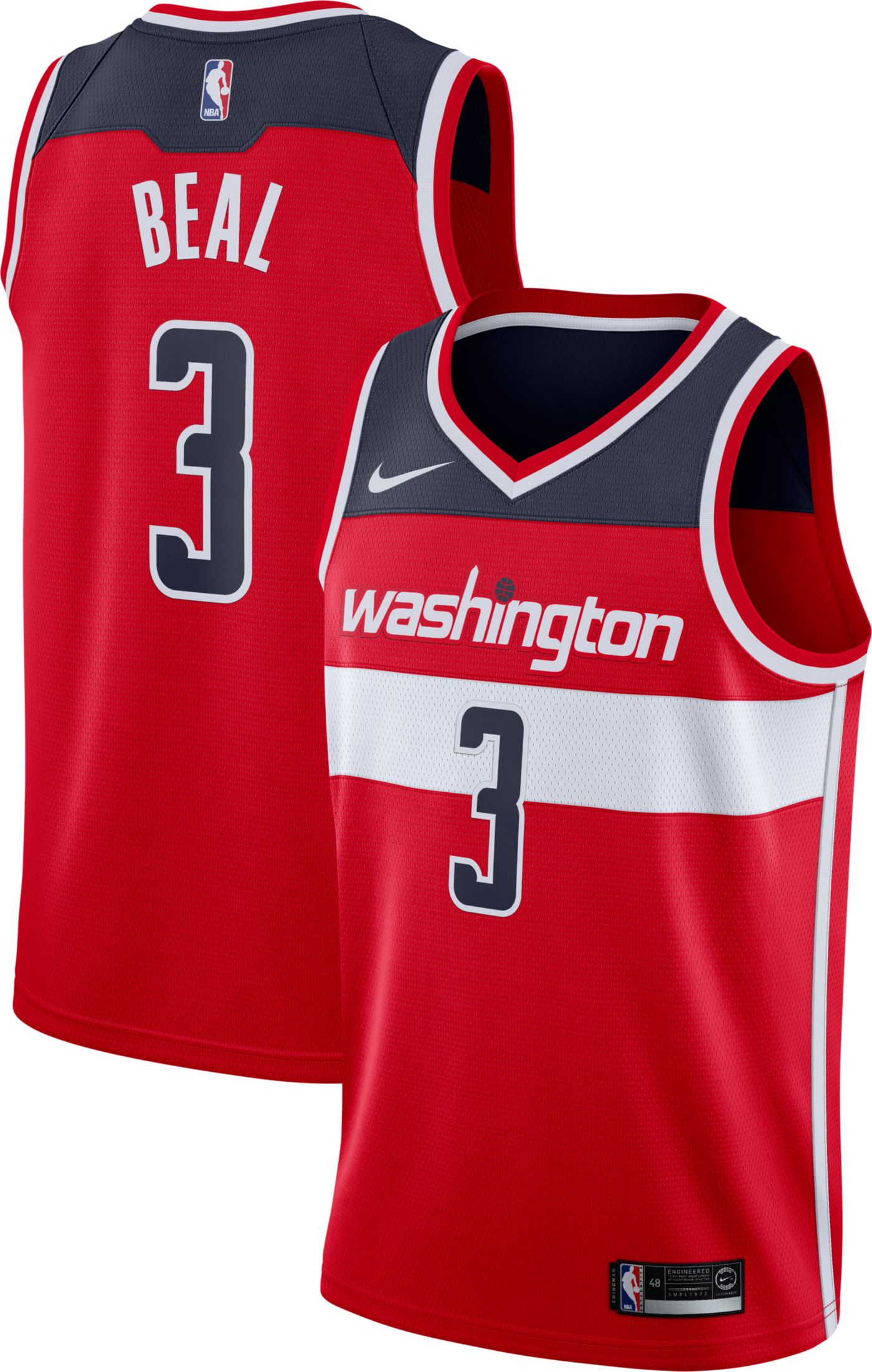 Nike Men's Washington Wizards Bradley Beal #3 Red Dri-FIT Swingman Jersey
