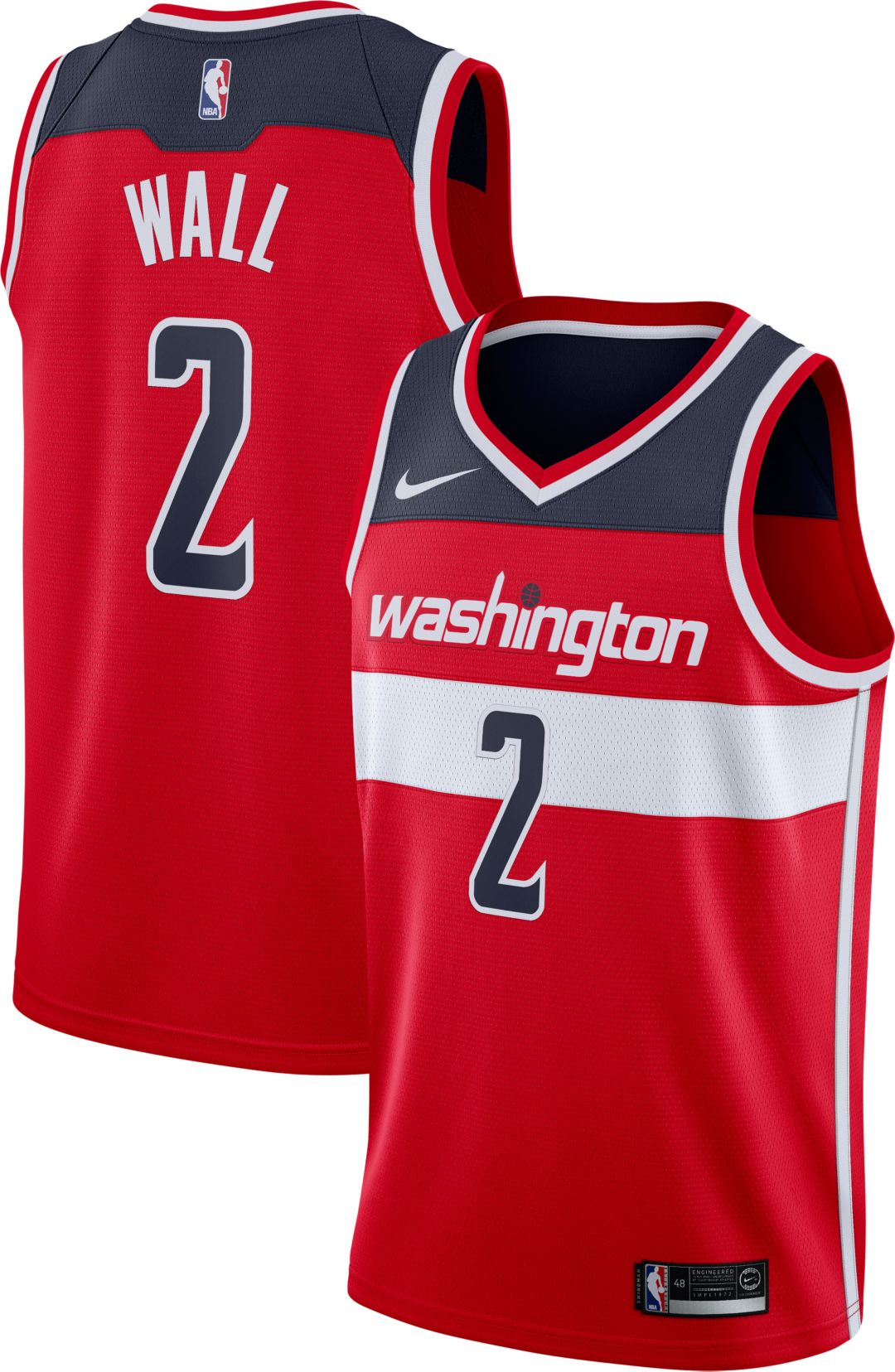 info for 8838b 1f79b Nike Men's Washington Wizards John Wall #2 Red Dri-FIT Swingman Jersey