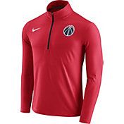 Nike Men's Washington Wizards Dri-FIT Red Element Half-Zip Pullover