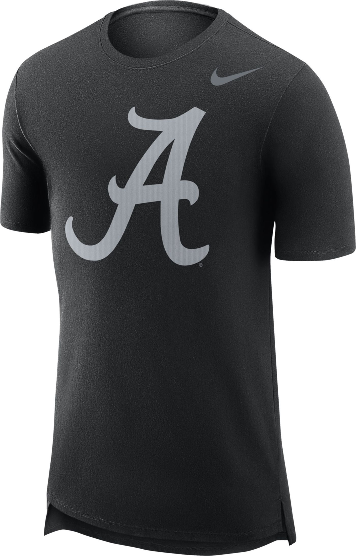 Nike Men's Alabama Crimson Tide Black Enzyme Washed Drop-Tail T-Shirt