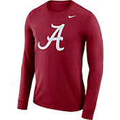 Nike Men's Alabama Crimson Tide Crimson Dri-FIT Logo Long Sleeve Shirt