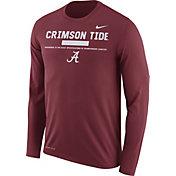 Nike Men's Alabama Crimson Tide Crimson Football Sideline Staff Legend Long Sleeve Shirt