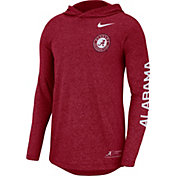 Nike Men's Alabama Crimson Tide Crimson Marled Long Sleeve Hooded Sideline T-Shirt