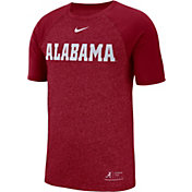 Nike Men's Alabama Crimson Tide Crimson Raglan Sideline T-Shirt