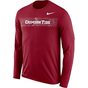 Nike Men's Alabama Crimson Tide Crimson Dri-FIT Legend Long Sleeve Sideline T-Shirt