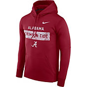 Nike Men's Alabama Crimson Tide Crimson Therma-FIT Pullover Sideline Hoodie