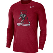 Nike Men's Alabama Crimson Tide Heathered Crimson Vault Tri-Blend Long Sleeve Tee