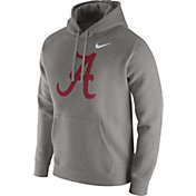 Nike Men's Alabama Crimson Tide Grey Club Fleece Hoodie