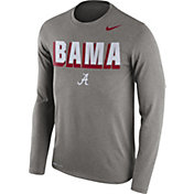 Nike Men's Alabama Crimson Tide Grey Dri-FIT Franchise Long Sleeve T-Shirt