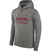 Nike Men's Alabama Crimson Tide Grey Football Sideline Therma-FIT Hoodie