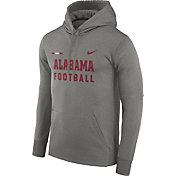 Nike Men's Alabama Crimson Tide Grey Football Sideline Therma-FIT Hoodie
