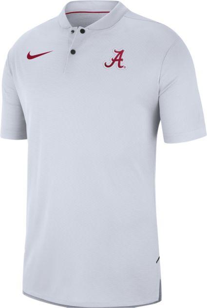 Nike Men's Alabama Crimson Tide Elite Football Sideline White Polo