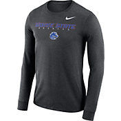 Nike Men's Boise State Broncos Grey Football Dri-FIT Facility Long Sleeve T-Shirt