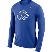 Nike Men's Boise State Broncos Blue Dri-FIT Logo Long Sleeve Shirt