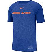 Nike Men's Boise State Broncos Blue Raglan Sideline T-Shirt