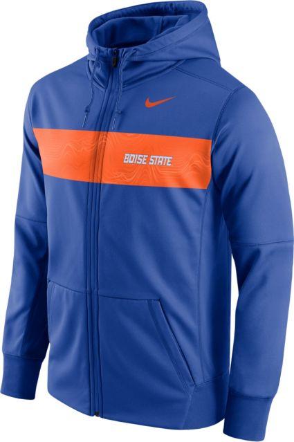 1fe964338 Nike Men s Boise State Broncos Blue Therma-FIT Full-Zip Sideline Hoodie.  noImageFound