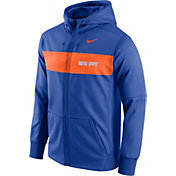 Nike Men's Boise State Broncos Blue Therma-FIT Full-Zip Sideline Hoodie