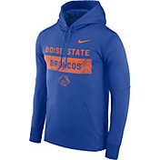 Nike Men's Boise State Broncos Blue Therma-FIT Pullover Sideline Hoodie