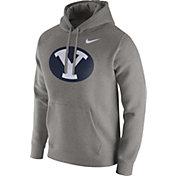 Nike Men's BYU Cougars Grey Club Fleece Hoodie