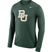 Nike Men's Baylor Bears Green Dri-FIT Logo Long Sleeve Shirt