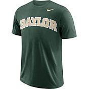 Nike Men's Baylor Bears Green Wordmark T-Shirt