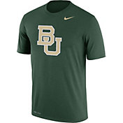 Nike Men's Baylor Bears Green Logo Dry Legend T-Shirt