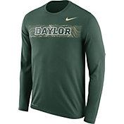 Nike Men's Baylor Bears Green Dri-FIT Legend Long Sleeve Sideline T-Shirt