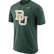 Nike Men's Baylor Bears Green Dri-FIT Football Sideline Slub T-Shirt
