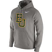 Nike Men's Baylor Bears Grey Club Fleece Hoodie