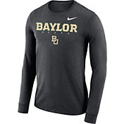 Nike Men's Baylor Bears Grey Football Dri-FIT Facility Long Sleeve T-Shirt