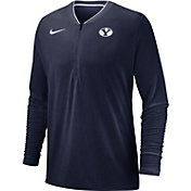 Nike Men's BYU Cougars Blue Coach Half-Zip Football Sideline Jacket
