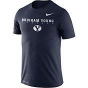 Nike Men's BYU Cougars Blue Football Dri-FIT Facility T-Shirt