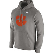 Nike Men's Clemson Tigers Grey Club Hoodie
