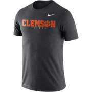 Nike Men's Clemson Tigers Grey Football Dri-FIT Facility T-Shirt