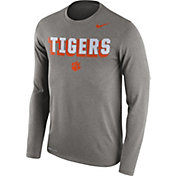 Nike Men's Clemson Tigers Grey Dri-FIT Franchise Long Sleeve T-Shirt