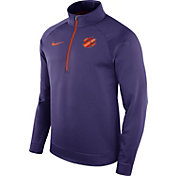 Nike Men's Clemson Tigers Regalia Therma Half-Zip Shirt
