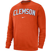 Nike Men's Clemson Tigers Orange Club Fleece Crew Sweatshirt