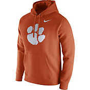 Nike Men's Clemson Tigers Orange Club Fleece Hoodie