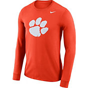 Nike Men's Clemson Tigers Orange Dri-FIT Logo Long Sleeve Shirt